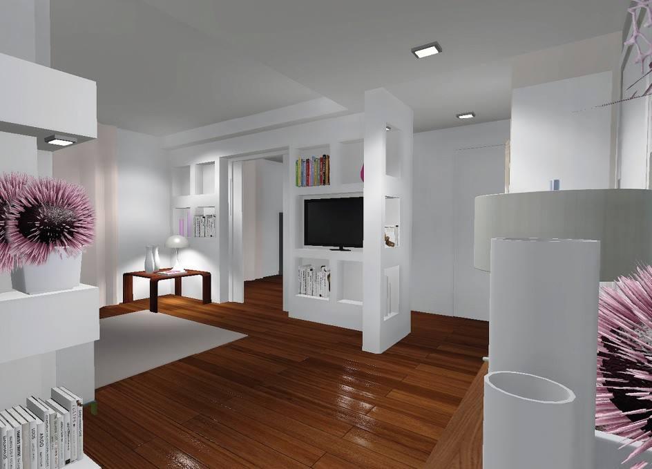 Foto pareti attrezzate in cartongesso design casa - Porta su parete cartongesso ...